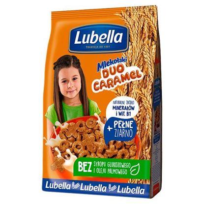Lubella Mlekołaki Duo Caramel Zbożowe chrupki o smaku karmelowym 250 g