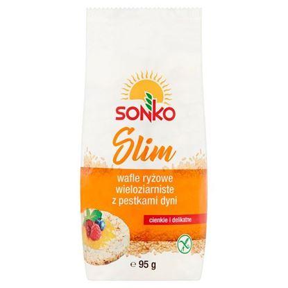 Sonko Slim Wafle ryżowe wieloziarniste z pestkami dyni 95 g