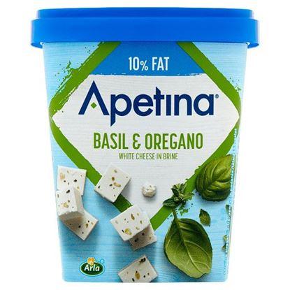 Arla Apetina Ser biały sałatkowy w kostkach z oregano i słodką bazylią 430 g