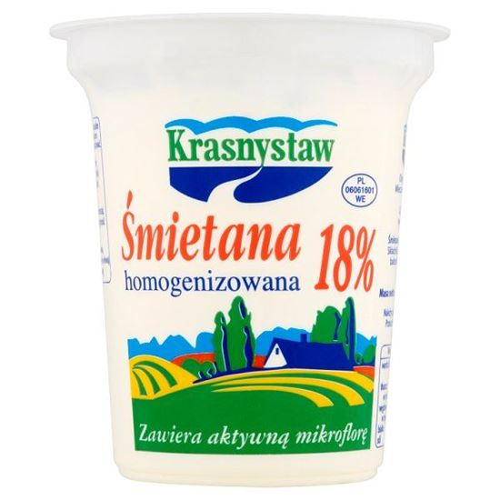 Krasnystaw Śmietana 18% homogenizowana 300 g