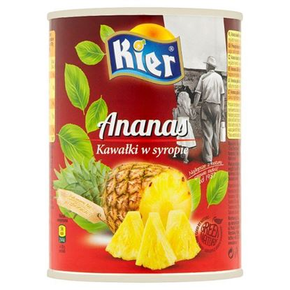 Kier Ananas kawałki w syropie 565 g
