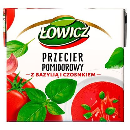 Łowicz Przecier pomidorowy z bazylią i czosnkiem 500 g