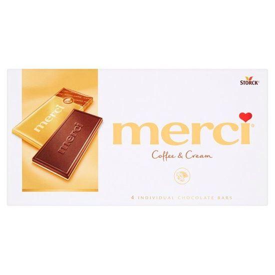 merci Czekolada śmietankowa o smaku kawowym i biała czekolada 100 g