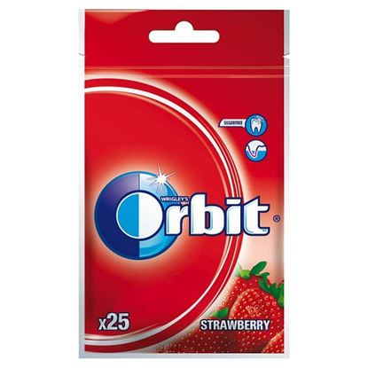 Orbit Strawberry Guma do żucia bez cukru 35 g (25 sztuk)