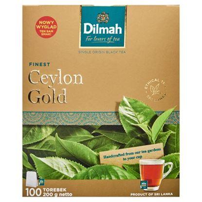 Dilmah Finest Ceylon Gold Klasyczna czarna herbata 200 g (100 x 2 g)