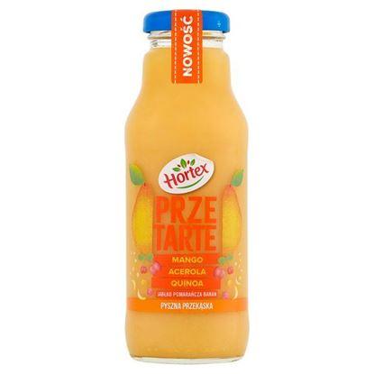 Hortex Przetarte Premium smoothie jabłko pomarańcza banan mango acerola z dodatkiem quinoa 300 ml