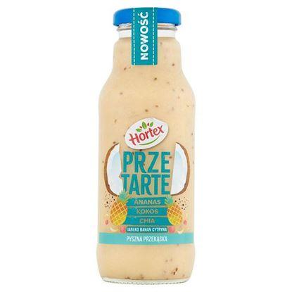 Hortex Przetarte Premium smoothie ananas banan jabłko kokos cytryna z dodatkiem nasion chia 300 ml