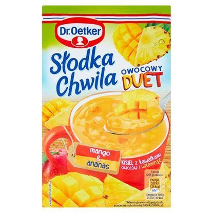 Dr. Oetker Słodka Chwila Owocowy Duet Kisiel z kawałkami owoców i witaminą C mango & ananas 32 g
