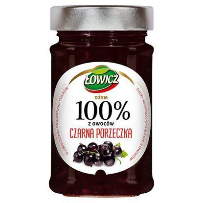 Łowicz Dżem 100% z owoców czarna porzeczka 220 g