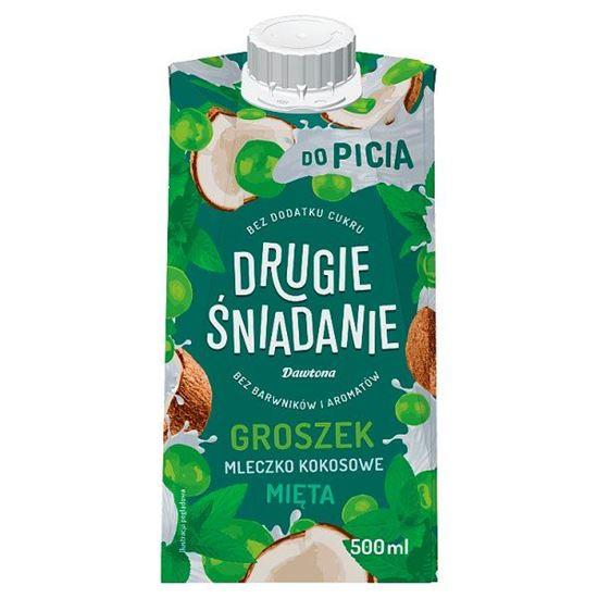 Drugie śniadanie Płynna przekąska groszek mleczko kokosowe mięta 500 ml
