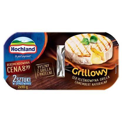 Hochland Grillowy Ser pleśniowy na grilla Camembert naturalny 180 g (2 x 90 g)