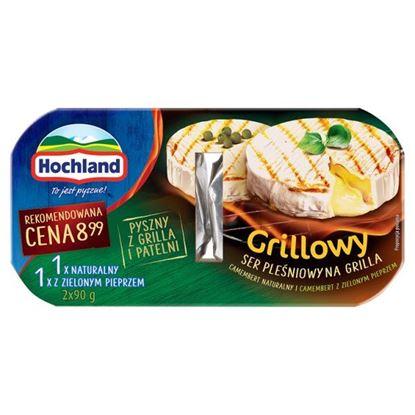 Hochland Grillowy Ser pleśniowy na grilla Camembert naturalny i z zielonym pieprzem 180 g (2 x 90 g)