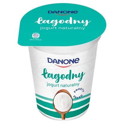 Danone łagodny Jogurt naturalny 370 g