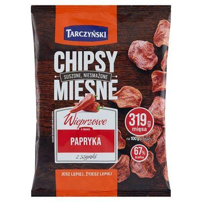 Tarczyński Chipsy mięsne wieprzowe o smaku papryka z szynki 25 g