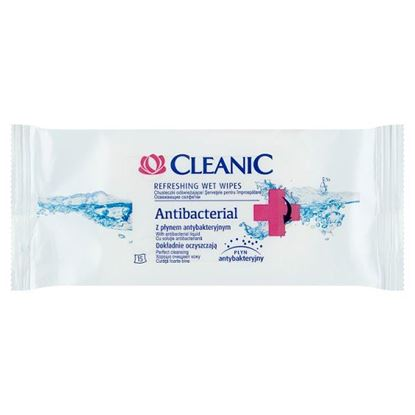 Cleanic Antibacterial Chusteczki odświeżające 15 sztuk