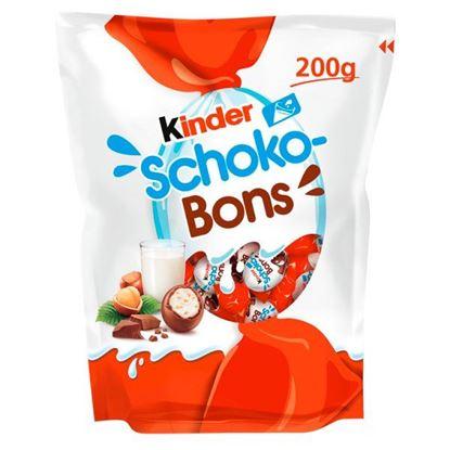 Kinder Schoko-Bons Czekoladki z mlecznej czekolady z nadzieniem mlecznym i orzechami 200 g