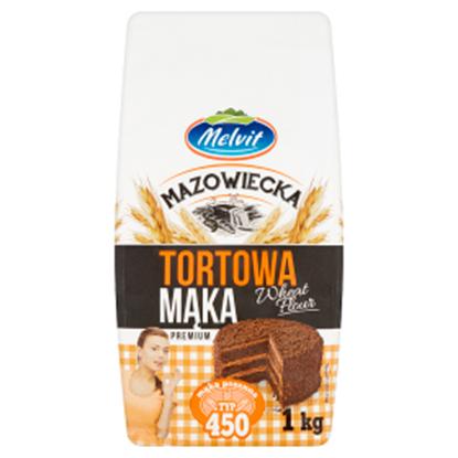 Obrazek Melvit Mazowiecka Mąka tortowa pszenna typ 450 1 kg