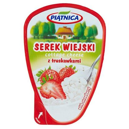 Piątnica Serek wiejski z truskawkami 150 g
