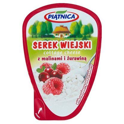 Piątnica Serek wiejski z malinami i żurawiną 150 g