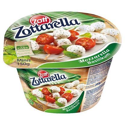 Zott Zottarella Minis Ser mozzarella z bazylią 150 g