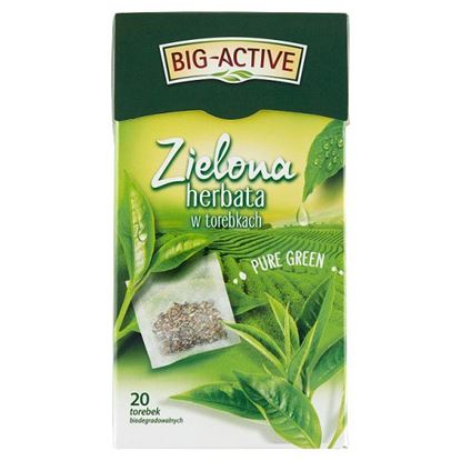 Big-Active Pure Green Zielona herbata 30 g (20 x 1,5 g)