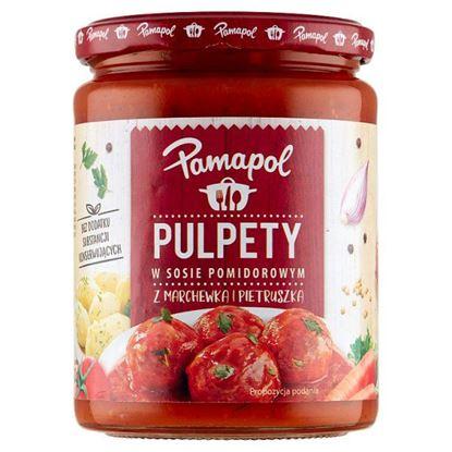 Pamapol Pulpety w sosie pomidorowym z marchewką i pietruszką 500 g