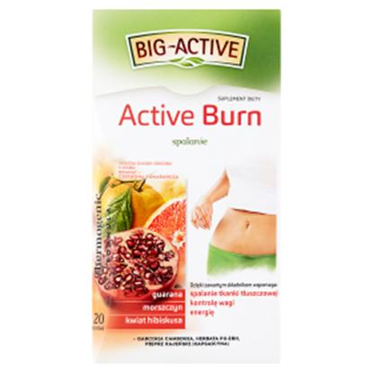 Obrazek Big-Active Active Burn Herbatka ziołowo-owocowa Suplement diety 40 g (20 x 2 g)