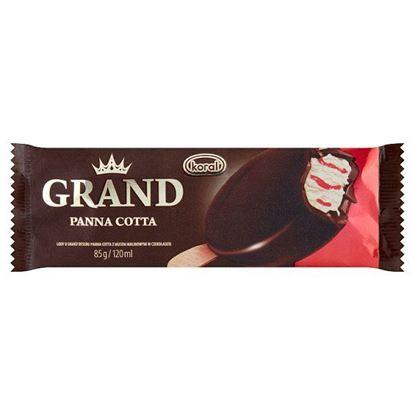 Koral Grand Gold Lody o smaku deseru panna cotta z musem malinowym w czekoladzie 120 ml