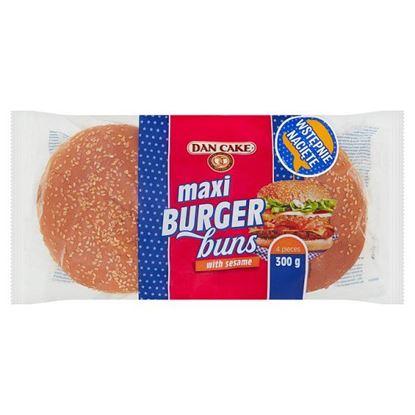 Dan Cake Bułki pszenne z sezamem do hamburgerów 300 g (4 x 75 g)