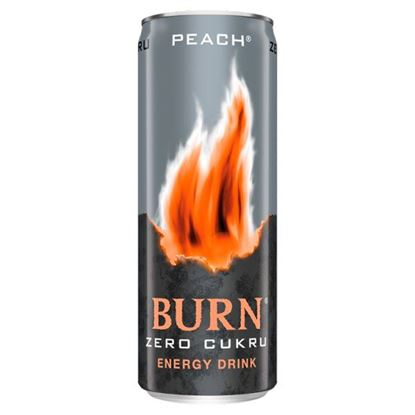 Burn Peach Gazowany napój energetyczny 250 ml