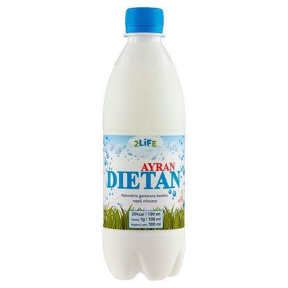 2Life Ayran Dietan Naturalnie gazowany kwaśny napój mleczny 500 ml