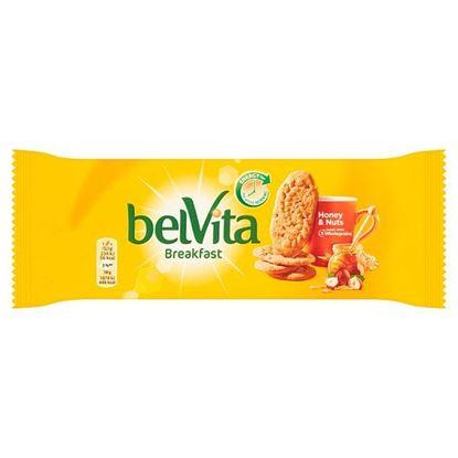 belVita Breakfast Ciastka zbożowe z miodem orzechami laskowymi i kawałkami czekolady 50 g