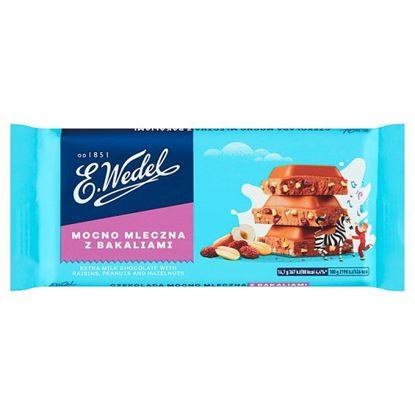 E. Wedel Czekolada mocno mleczna z bakaliami 100 g