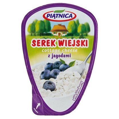 Piątnica Serek wiejski z jagodami 150 g