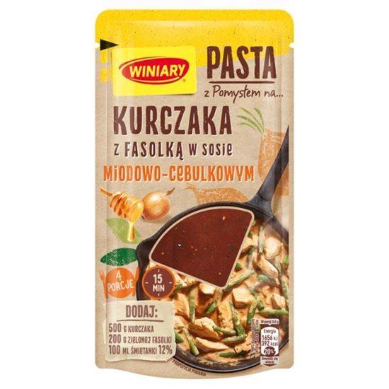 Winiary Pasta z pomysłem na... kurczaka z fasolką w sosie miodowo-cebulkowym 80 g