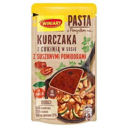 Winiary Pasta z pomysłem na... kurczaka z cukinią w sosie z suszonymi pomidorami 80 g