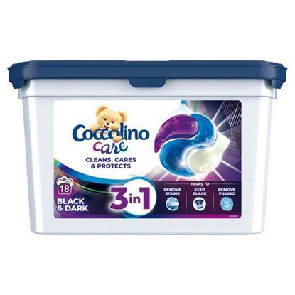 Coccolino Care Kapsułki 3w1 do prania czarnych i ciemnych tkanin 486 g (18 prań)