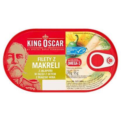 King Oscar Filety z makreli z Jalapeño w oleju z octem z białego wina 170 g