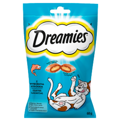 Obrazek Dreamies Karma uzupełniająca z wybornym łososiem 60 g