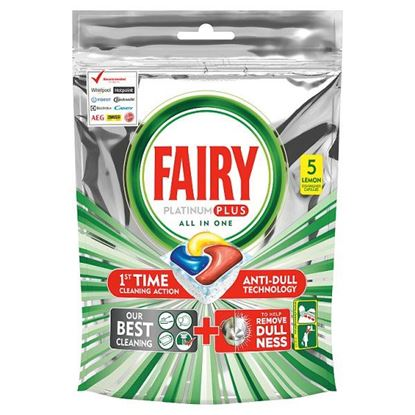 Fairy Platinum Plus Cytryna Kapsułki do zmywarki, 5 kapsułek
