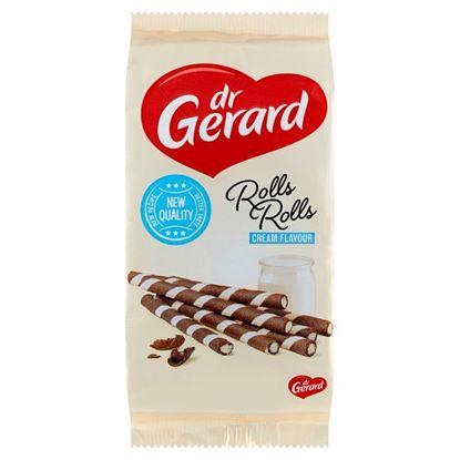 dr Gerard Rolls Rolls Rurki waflowe kakaowe z kremem o smaku śmietankowym 160 g