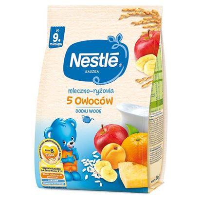 Nestlé Kaszka mleczno-ryżowa 5 owoców po 9. miesiącu 230 g