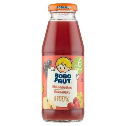 Bobo Frut 100% sok jabłko winogrona aronia malina po 6. miesiącu 300 ml