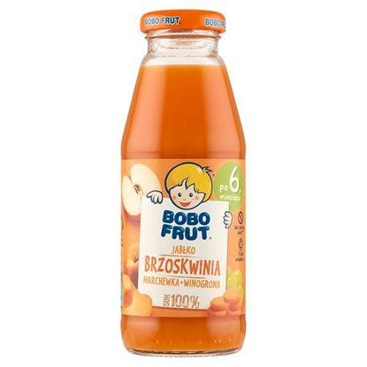 Bobo Frut 100% sok jabłko brzoskwinia marchewka winogrona po 6. miesiącu 300 ml