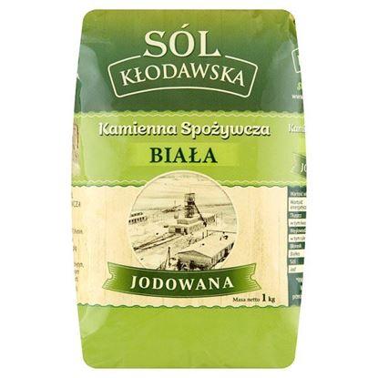 Kłodawska sól kamienna spożywcza biała jodowana 1 kg