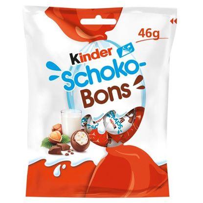 Kinder Schoko-Bons Czekoladki z mlecznej czekolady z nadzieniem mlecznym i orzechami 46 g