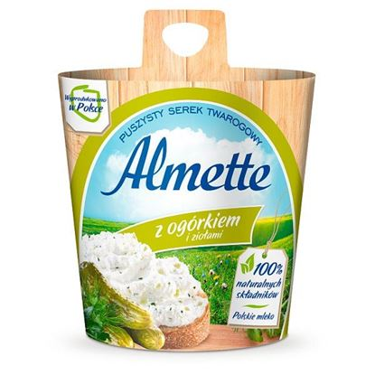 Almette z ogórkiem i ziołami Puszysty serek twarogowy 150 g