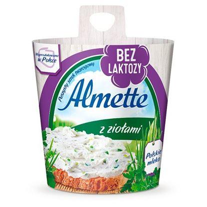 Almette Puszysty serek twarogowy z ziołami bez laktozy 150 g