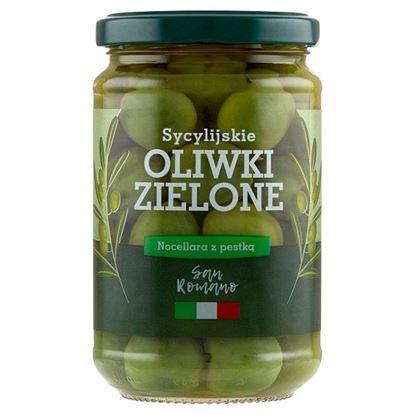 San Romano Sycylijskie oliwki zielone Nocellara z pestką 300 g