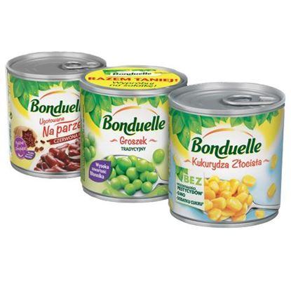 Obrazek Bonduelle trójpak kukurydza/groszek/fasola 212 ml